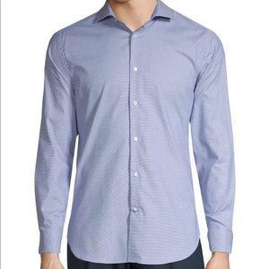1670 Blue Dress Shirt slim fit with stretch